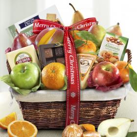 AA4101X, Merry Christmas Classic Deluxe Fruit Basket