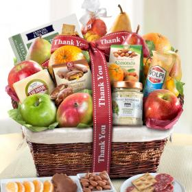 AA4102T, Thank You Abundance Classic Fruit Basket