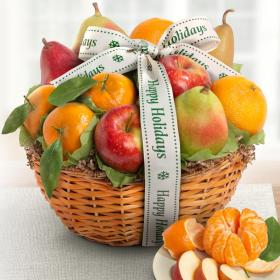 AA4103H, Happy Holidays Fruit Favorites Basket