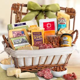 AA5035, Gourmet Cheese & Meats Hamper Gift Basket
