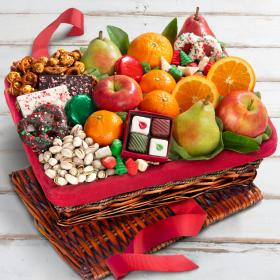 AA5060, 'Tis The Season Fruit, Sweets & Nuts Holiday Christmas Gift Basket