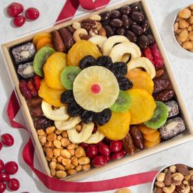 AA6004, Festive Dried Fruit, Nuts and Sweets Tray
