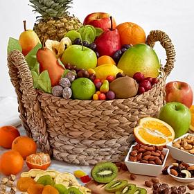 AA6045, Ultimate Fruit and Snack Keepsake Basket