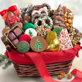 AA9001H, Holiday Handmade Chocolate Bliss Assortment Gift Basket