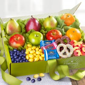 AB2026, Spring Bouquet of Sweets and Fruit Deluxe Gift Box