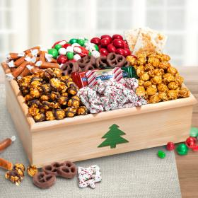 AC1080, Christmas Snacks, Chocolate & Crunch Gift Crate with Tree