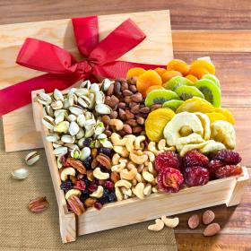 AC2020, Dried Fruit and Nuts Gift Crate with Lid