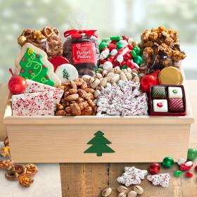 AC2080, Christmas Treats & Sweets in Large Tree Crate