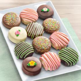 ACC1004M, 12 Sweet Blooms Chocolate Covered Oreos