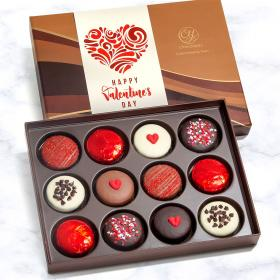 ACC1004V, 12 Valentine's Day Chocolate Covered Love Oreos