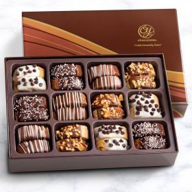 ACC1020, Classic Decorated Chocolate-Dipped Biscotti in Gift Box