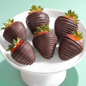 ACD1009, Tall, Dark & Dreamy Dipped Strawberries - 6 Berries
