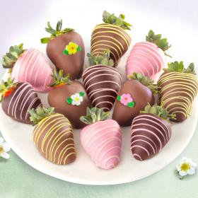 ACD2021, Sweet Bloom Chocolate Covered Strawberries - 12 Berries