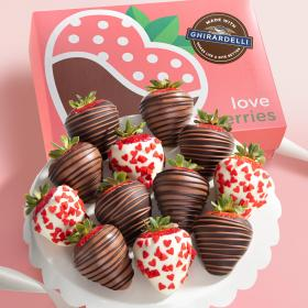 ACD2070, Made with Ghirardelli Love is Sweet Chocolate Covered Strawberries - 12 Berries