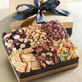 AG4102, Savory Gourmet Snacks Deluxe Executive Gift Box