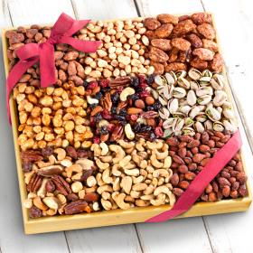AP8054, Nuts Extravaganza Gift in Wooden Tray