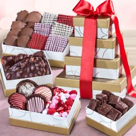 ATC0127V, Valentine's Day Chocolate Indulgence Deluxe Gift Tower