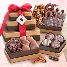 ATC0306, Chocolate, Caramel and Crunch Gift Tower