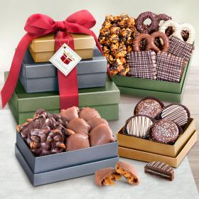 ATC0306, Chocolate, Caramel and Crunch 3 Box Gift Tower