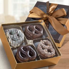 CY1023R, Chocolate-dipped Giant Pretzel Gift box, 16 ct