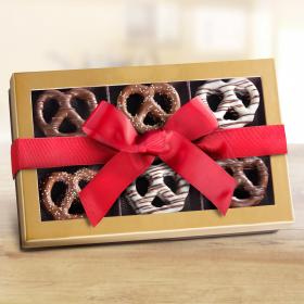 CY1023R, Chocolate-dipped Giant Pretzel Gift Box