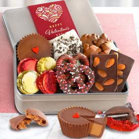 CY2201V, Valentines Day Premium Handmade Chocolate Collection in Gift Tin