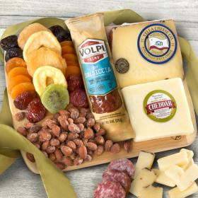 FG2010, Cheese, Salame, Nuts and Dried Fruit with Bamboo Cutting Board