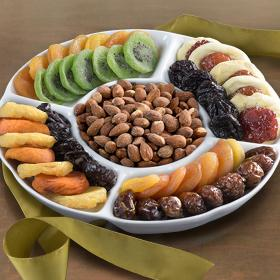 GC1005, Ceramic Party Dish with Dried Fruit & Nuts
