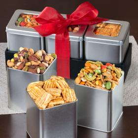 GS1020, Savory Snacking Grand Tin Trio Set