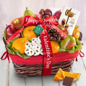 RA4012V, Organic Fruit & Sweets Valentine's Day Gift Basket