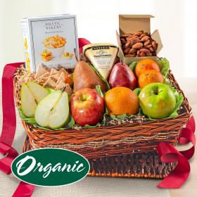 RA5040, Organic Nuts, Cheese & Fruit Classic Gift Basket