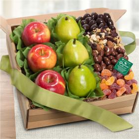 RB1009, Organic Fresh Fruit, Sweets & Treats Gift Box