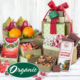 RT1001H, Organic Holiday Fruit and Treats Tower