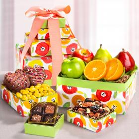 AT0463, Sunny Days Fruit & Sweets Gift Tower