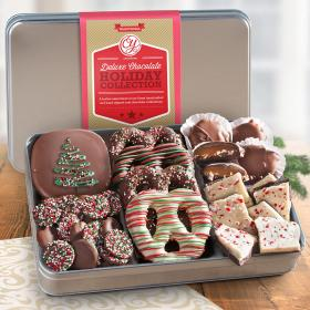 CY2201HU, Holiday Deluxe Handmade Chocolate Collection in Gift Tin