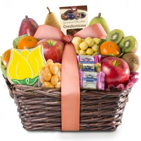 AA4035, Mother's Day Fruit and Sweets Gift Basket