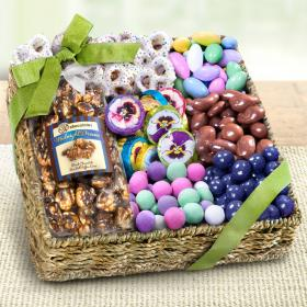 AA4055M, Spring Chocolate, Sweets, and Treats Gift Basket