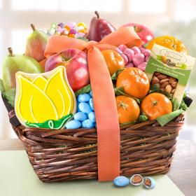 AA4073, Sunny Days Fruit and Treats Basket