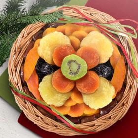 AA6051, Golden State Fruit Sweet Bloom Dried Fruit Basket
