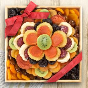 AA6053, Sweet Bloom Dried Fruit Deluxe Basket