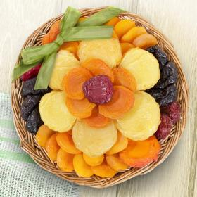AA6055, Flowering Dried Fruit Basket