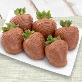 ACD1012, Pure Milk Chocolate Covered Strawberries - 6 Berries