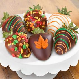 ACD1035, Fall Chocolate Covered Strawberries - 6 Berries