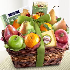 AP8019, Cheese and Nuts Delight Fruit Basket