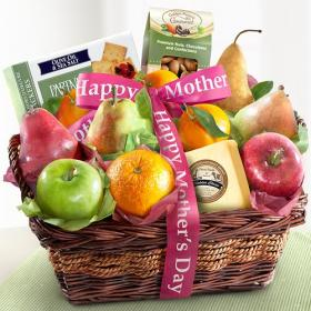 AP8019M, Happy Mothers Day Fruit and Gourmet Basket