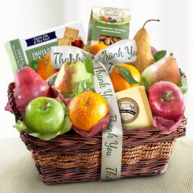 AP8019T, Thank You Fruit Basket with Cheese and Nuts