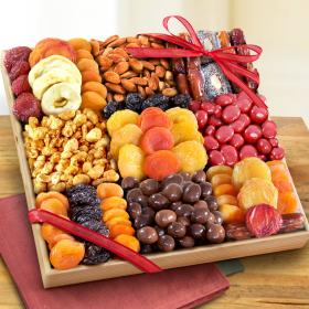 AP8044, Sweet Extravagance Deluxe Nut & Fruit Tray