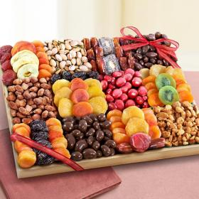 AP8045, Sweet Extravagance Grand Chocolate, Nuts & Fruit Tray