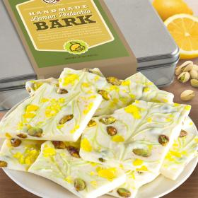 CY2320, Lemon Pistachio White Chocolate Bark Gift Tin