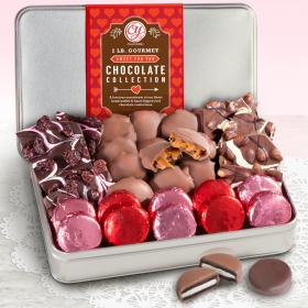 CY4305V, Valentines Day 2 LB Chocolate Assortment Gift Tin